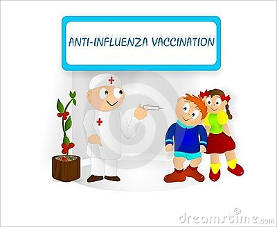 Kids vaccination, cdr vector Editorial Stock Image
