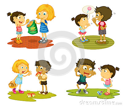 Kids with various activities
