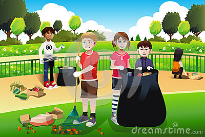 kids volunteering cleaning up the park stock vector oval rope border clip art oval rope border clip art