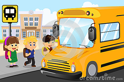 No Child Under 7th Grade Shall Get On or Off School Bus