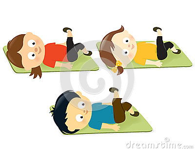 Kids Working Out Royalty Free Stock Photos - Image: 28854278