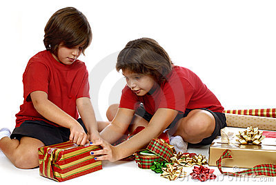 Kids Wrapping Gifts