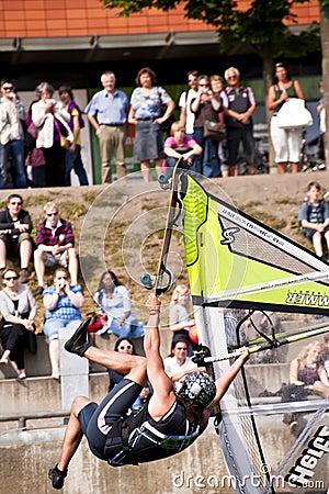 Kiel-Week-Ocean-Jump Editorial Image