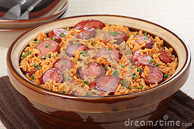 Sausage and Rice Meal