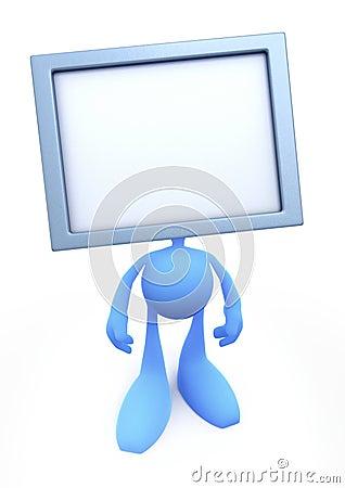 Kierowniczy mężczyzna tv