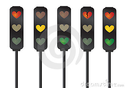 Kierowy miłości sygnałów ruch drogowy