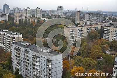 Kiev autumn cityscape