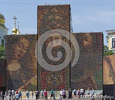 In Kiev built Altar of Nations (Fragment) Editorial Photo