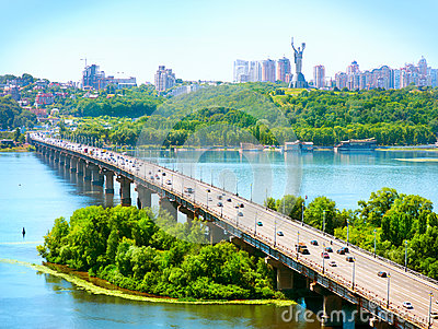 Kiev City - the capital of Ukraine Stock Photo