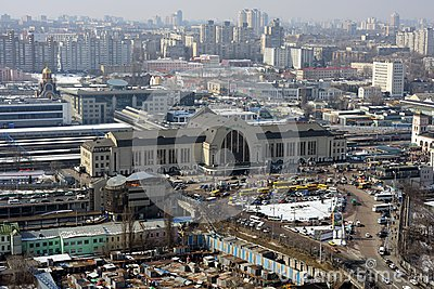 kiev city, aerial view Editorial Photo