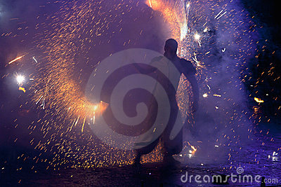 Kiev Fire Fest 2011 Editorial Stock Photo