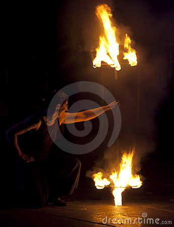 Kiev Fire Fest 2011 Editorial Stock Image