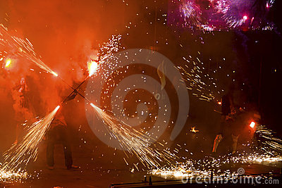 Kiev Fire Fest 2011 Editorial Stock Photo