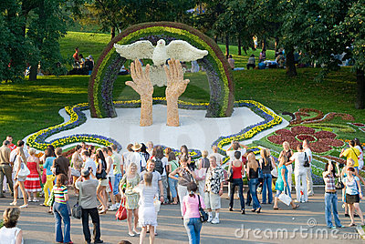Kiev flowers festival Editorial Image