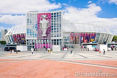 KIEV-JUNE 16::Renewed Olympic Sport Stadium  in Ki Editorial Photography