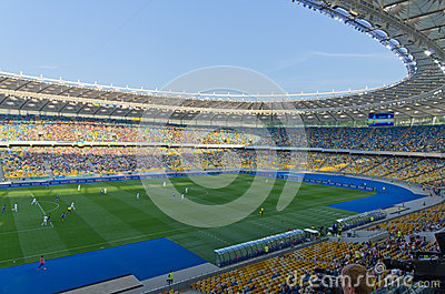 Kiev national stadium, Ukraine Editorial Stock Photo