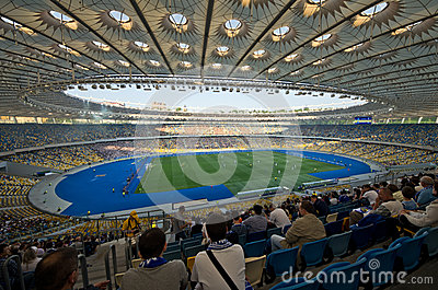 Kiev national stadium, Ukraine Editorial Photo