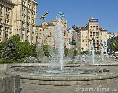 Kiev, square of independence Editorial Stock Photo