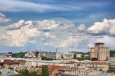 Kiev summer cityscape