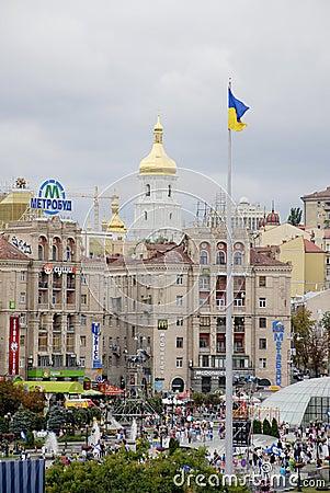 KIEV, UKRAINE - 24 AUGUST 2013 - Indipendence day Editorial Image