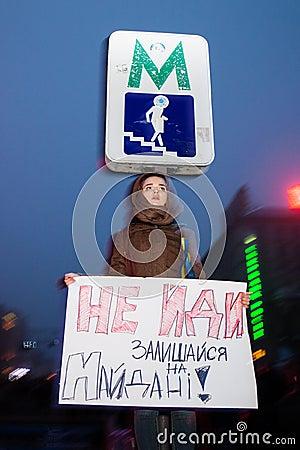 KIEV, UKRAINE - NOVEMBER 24: EuroMaidan Editorial Photo