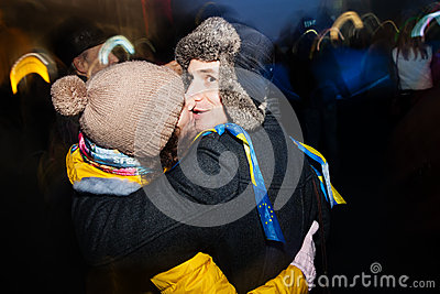 KIEV, UKRAINE - NOVEMBER 24: EuroMaidan Editorial Photo