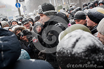 KIEV, UKRAINE: Popular ukrainian opposition politi Editorial Stock Photo