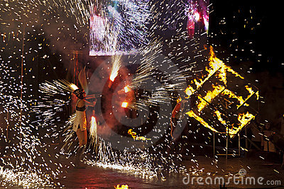 Kiew-Feuer Fest 2011 Redaktionelles Stockbild