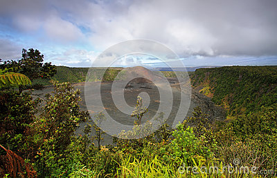 Kilauea Iki Crater trail in Hawaii