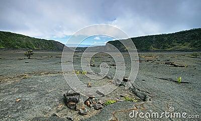 Kilauea Iki Crater trail in Hawaii