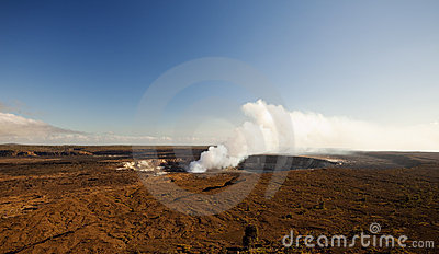 Kilauea volcano on big island hawaii