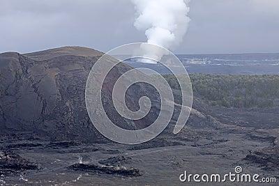 Kilauea Volcano Crater, Hawaii