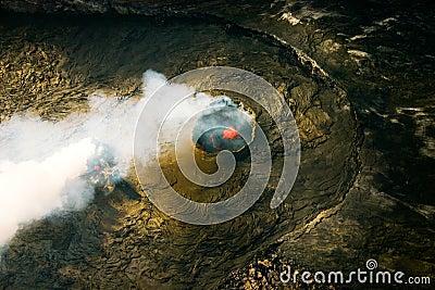 Kilauea Volcano Pu u  O o Hawaii Volcanoe National Park