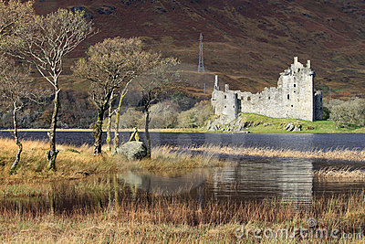Kilchurn Castle ruins by Loch Awe, Scotland.