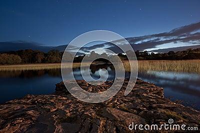 killarney lake at twilight
