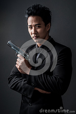 Free Killer And Spy Man Stock Photos - 36705653
