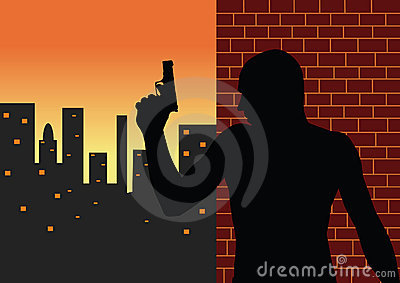 Killer vector silhouette