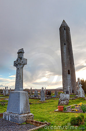 Kilmacduagh an ancient monastery in Burren