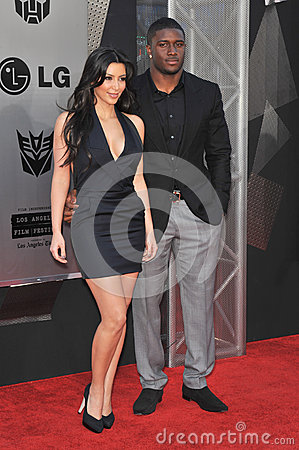 Kim Kardashian,Reggie Bush Editorial Photography