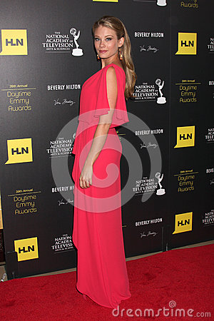 Kim Matula arrives at the 2012 Daytime Emmy Awards Editorial Stock Photo
