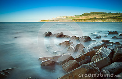 Kimmeridge Bay morning seascape
