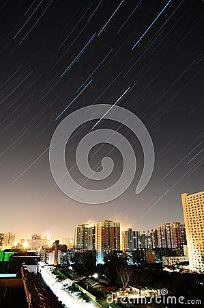 Kina beijing stjärnaspår Redaktionell Bild