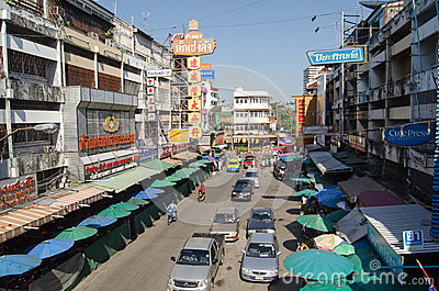 Kina Town, Chiang Mai Redaktionell Arkivfoto
