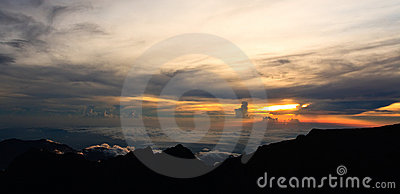 Kinabalu Summit Sunset