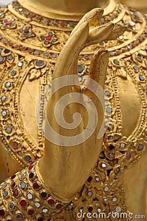 Free Kinaree Golden Hand Grand Palace Bangkok Royalty Free Stock Photo - 575175