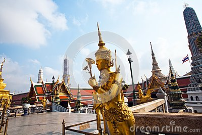 Kinaree, a mythology figure in the Grand Palace