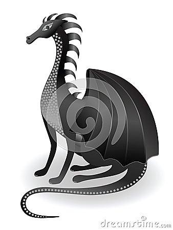 Kind black dragon