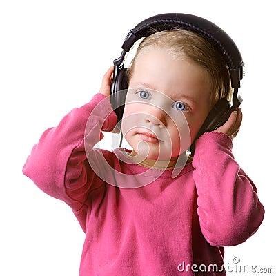 Kind mit Kopfhörer
