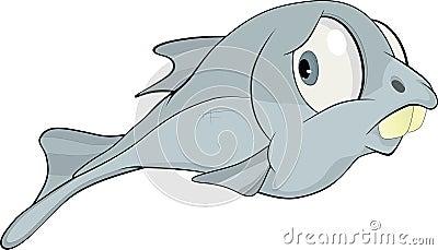 Kind small fish. Cartoon