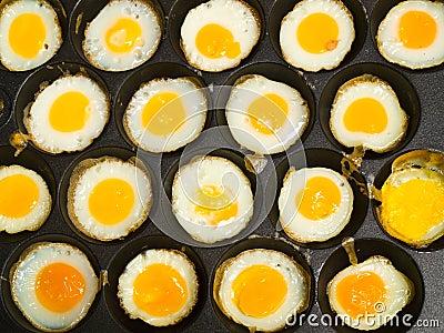 Kind of Thai sweetmeat made from partridge eggs (Kanom krok kai)